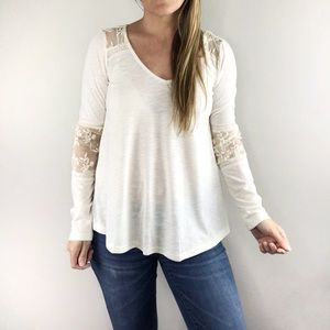 ALTAR'D STATE lace boho off white top sz XS